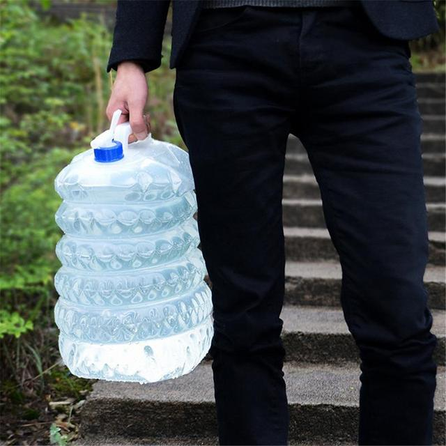 1pc 5L/10L Outdoor Camping Water Bag 6
