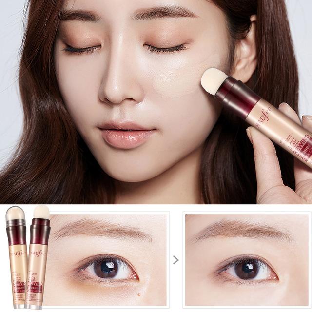 Dark Circle Eraser Concealer Pen Under Eye Concealer Highlighter Cover up Acne Scars Fine Lines Lip Primer Flawless Face