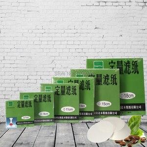 Image 5 - Dia 18cm 100 unids/caja papel de filtro de laboratorio redondo papel de filtro cuantitativo para embudo con rápido/Medio/lento velocidad 1 box/pack