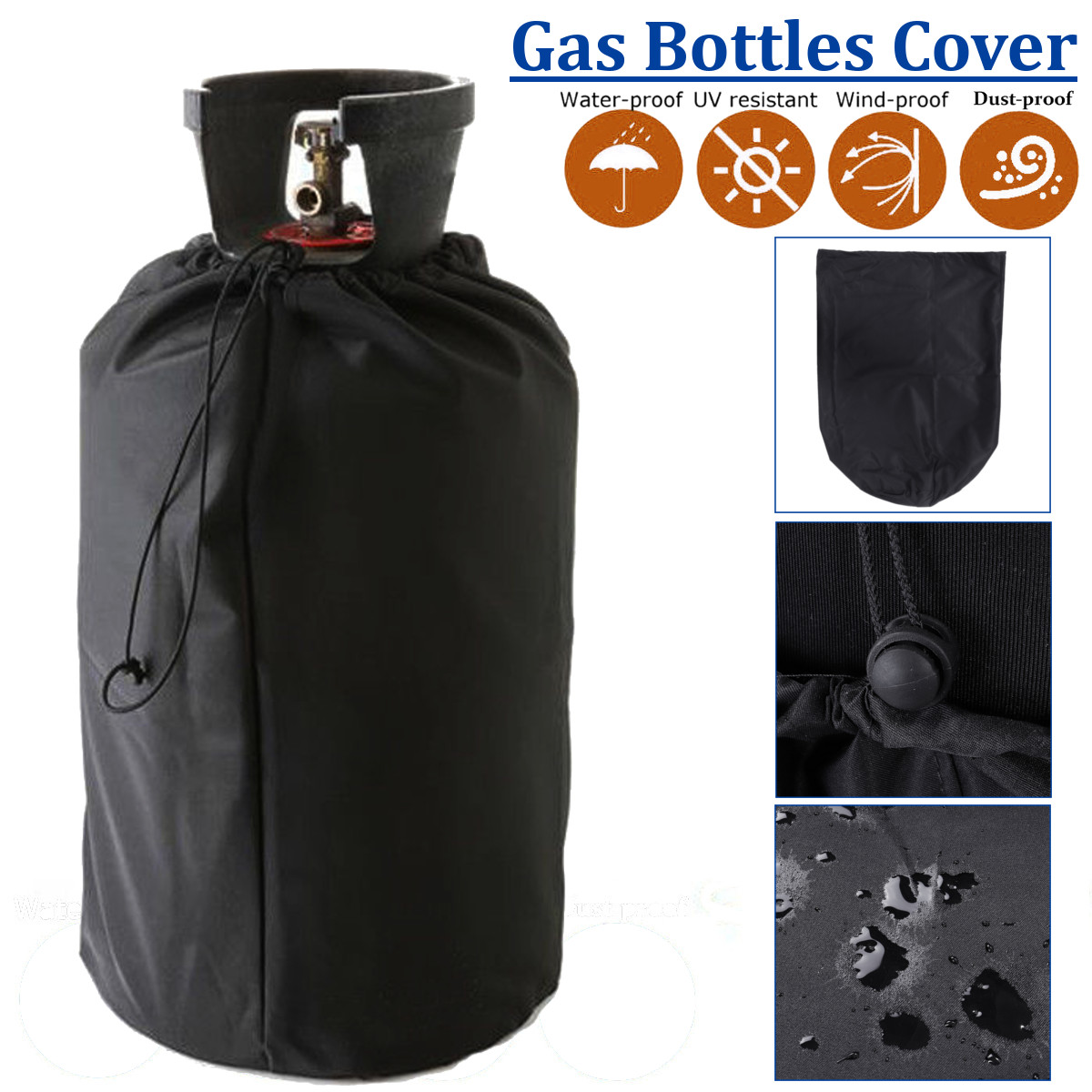 PVC Waterproof BBQ Grill Gas Bottles Cover Protection Durable Outdoor Rain Grill Anti Dust Protector All-Purpose CoversPVC Waterproof BBQ Grill Gas Bottles Cover Protection Durable Outdoor Rain Grill Anti Dust Protector All-Purpose Covers