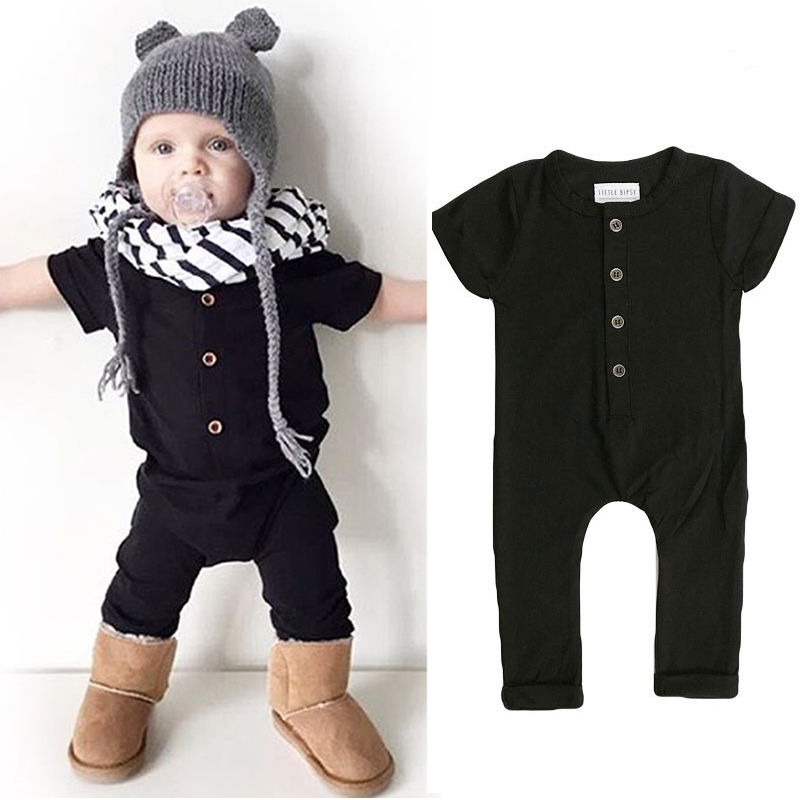 2019 new casual Newborn Baby Boy Girl Clothes short sleeve soild Baby Romper Jumpsuit Clothes cute children Rompers Outfits