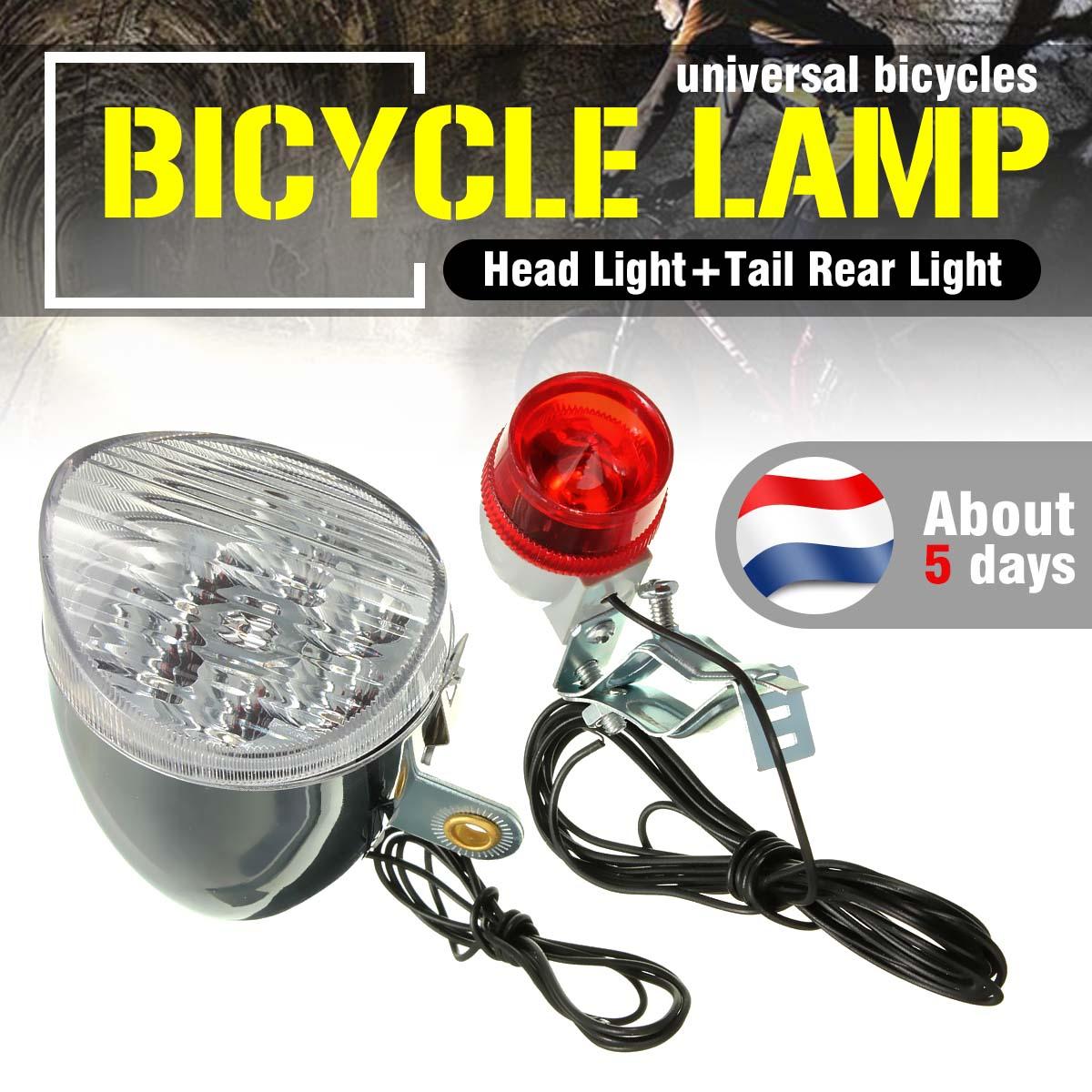 Nueva llegada de fricción generador motorizado 6 v 3 W noche ciclismo bicicleta linterna LED bicicleta cola luz trasera Kit deportes al aire libre