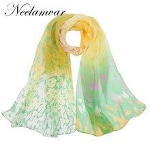 Neelamvar 2017 New Brand Scarf Woman Muslim Hijab Silk geogette chiffon Female Autumn Winter Women Fashion foulard