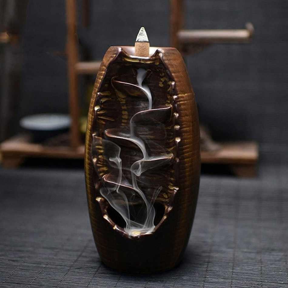 Водопад курильница для благовоний горелка ручной работы керамическая курильница ладан держатель Крытый Ретро стиль для домашнего декора с 10 конусами благовония