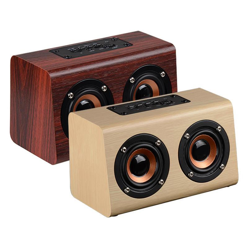 Image 3 - Portable Player Retro Wireless Bluetooth Speakers Handcrafted Wooden Stereo Hd Sounds Surround Devices For Travel Home Outdoor-in Portable Speakers from Consumer Electronics