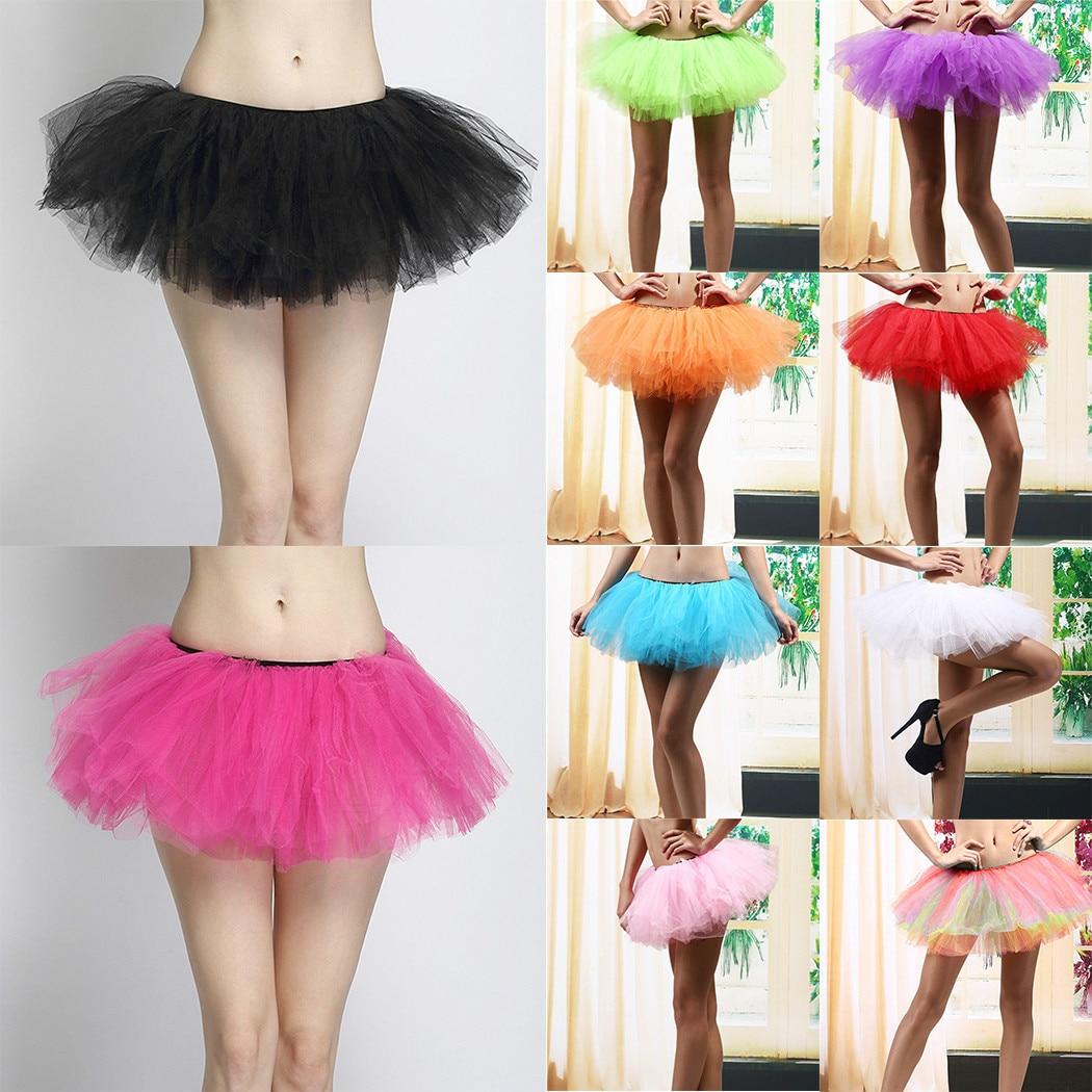 Vocole S-XXL 8 Farben Neue Mode Ballkleid Satin Organza Layered Korsett Mini Tutu Rock Halloween Kostüm Tüll Petticoat