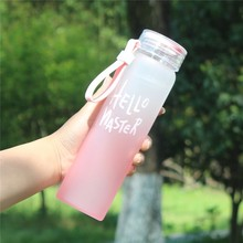 450ML Gradient Colorful Water Glass My Creative Bottle Rainbow Portable Leak-proof Bottles For Eco-friendly Kettle