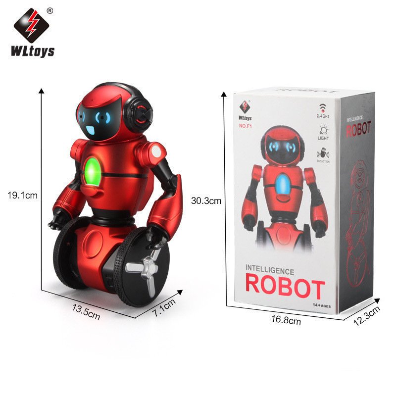 Origial WLtoys F1 2 4G RC Robot Toys 3 Axis Gyro Intelligent Gravity sensor Balance RC Smart Robot Kids Toy ZLRC in Action Toy Figures from Toys Hobbies