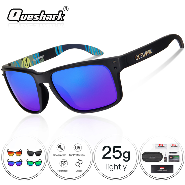 834d9ccec8 Queshark Men Women Cycling Eyewear UV400 TR90 Polarized Cycling Sunglasses  Bike Glasses Bicycle Goggles Fishing Sunglasses 29g