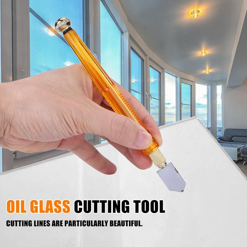 1pc 168mm Diamond Glass Cutter 3-12mm Professional Portable Wheel Blade DIY Tile Mirror Craft Cutting Hand Tools Dropshipping