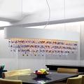 Creative grand coloré cristal pendentif lumière salle à manger maison salon Restaurant rectangulaire moderne lampe pour Hall hôtel|Lustres| |  -