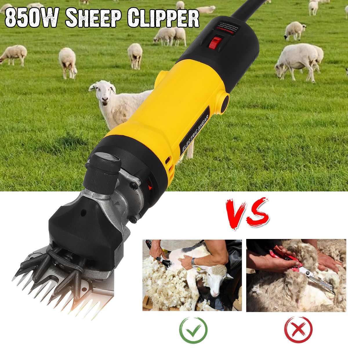 850 W Spina di UE Pecore Elettriche Peli di Animali Domestici Tagliatore di Taglio Kit di Lana a Taglio Taglio Taglio di Capra Animale Da Compagnia Forniture Agricole macchina di taglio