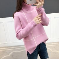 Fashion 2019 High Quality Winter Turtleneck Sweater Thickening Sweater Pullover Women Sweater Female Jumper Knitted Tops Femme