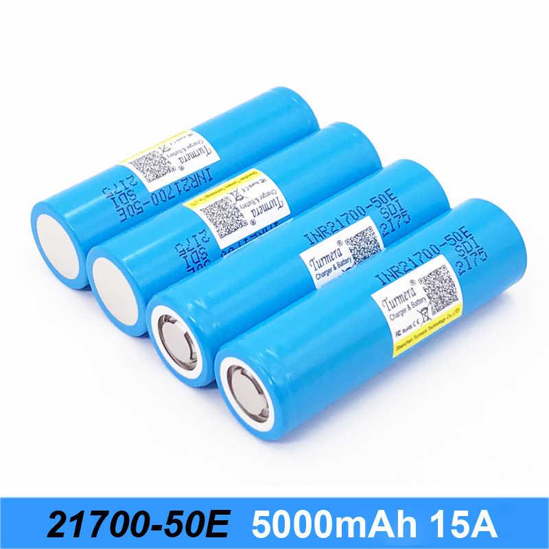 البطارية ل 21700 50e 5000 mah 15a بطارية ل e-السجائر و مفك مجموعة بطارية دراجة كهربائية 21700 ل Turmera