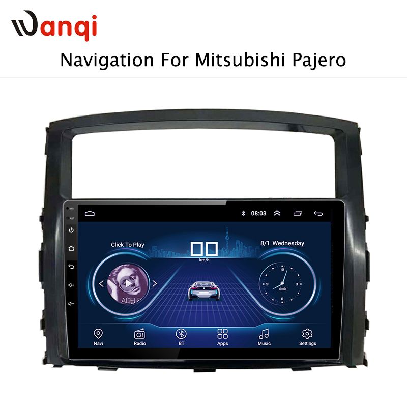 9 дюймов Android 8,1 автомобильный дюймов dvd gps навигация для Mitsubishi Pajero 2011-2006 Мультимедиа Радио dvd система