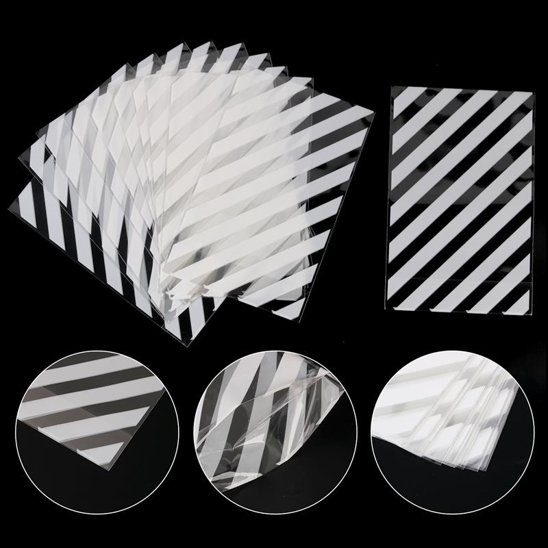 100PCS Large White Striped Biscuit Bags Bread Candy Cello Bag Flat Cellophane Treat Bag Cellophane Bags With Twist Ties For Kids in Gift Bags Wrapping Supplies from Home Garden
