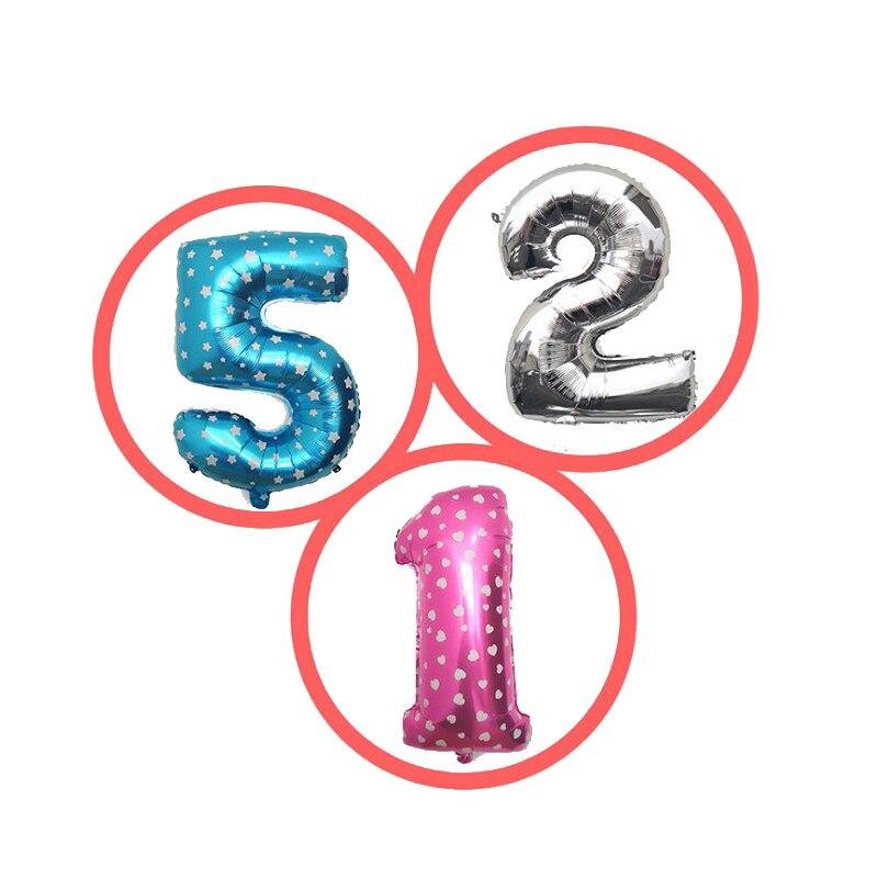 Polegada Iridescente 32 Rainbow Color Número Foil Balões da Festa de Casamento Aniversário Decoração Balão Digitais Melsnajsd