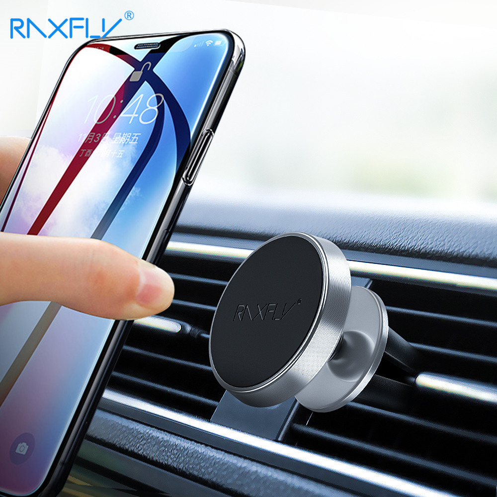 RAXFLY Magnetic Phone Holder For iPhone X XS Max XR Magnet Car Xiaomi Redmi 7 Air Vent Mount Mobile Stand
