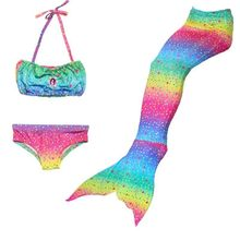 2019 New Children Mermaid Tails with Monofin Kids Girls Costumes Swimming Mermaid Tail Mermaid Swimsuit Flipper For Girls Gift(China)