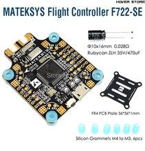 Matek 시스템 F722 SE f7 듀얼 gryo 비행 컨트롤러 fpv rc 레이싱 무인 항공기 용 pdb osd 5 v/2a bec 전류 센서 내장