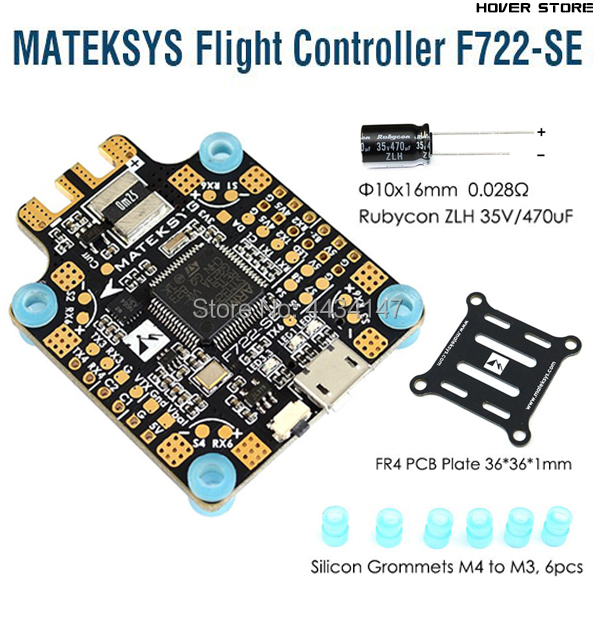 Matek System F722-SE F7 Dual Gryo Flight Controller Built-in PDB OSD 5V/2A BEC Current Sensor for FPV RC Racing Drone parts(China)
