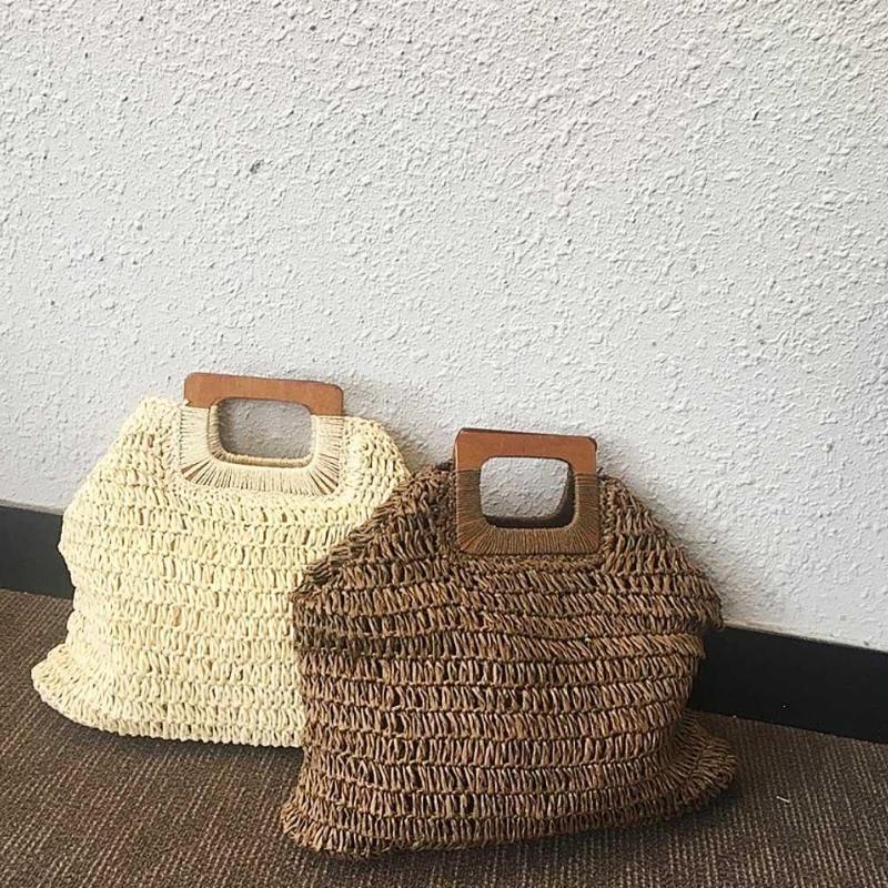 66f369779a42 2019 богемные соломенные сумки для женщин большой емкости пляжные сумки  летние винтажные плетеная Сумка из ротанга ручной работы Kintted дорожн.