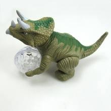 Electric Dinosaur Interactive Toy Children Simulation Triceratops Animal Model Tyrannosaur Oversized Toy Boy Walking toys цена и фото