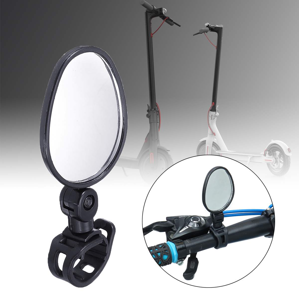 Motorcycle Mirrors Bar End Mirror Rear View Motor Handlebar End Mirror Rearview Convex Mirror For Xiaomi M365 Ninebot Electric