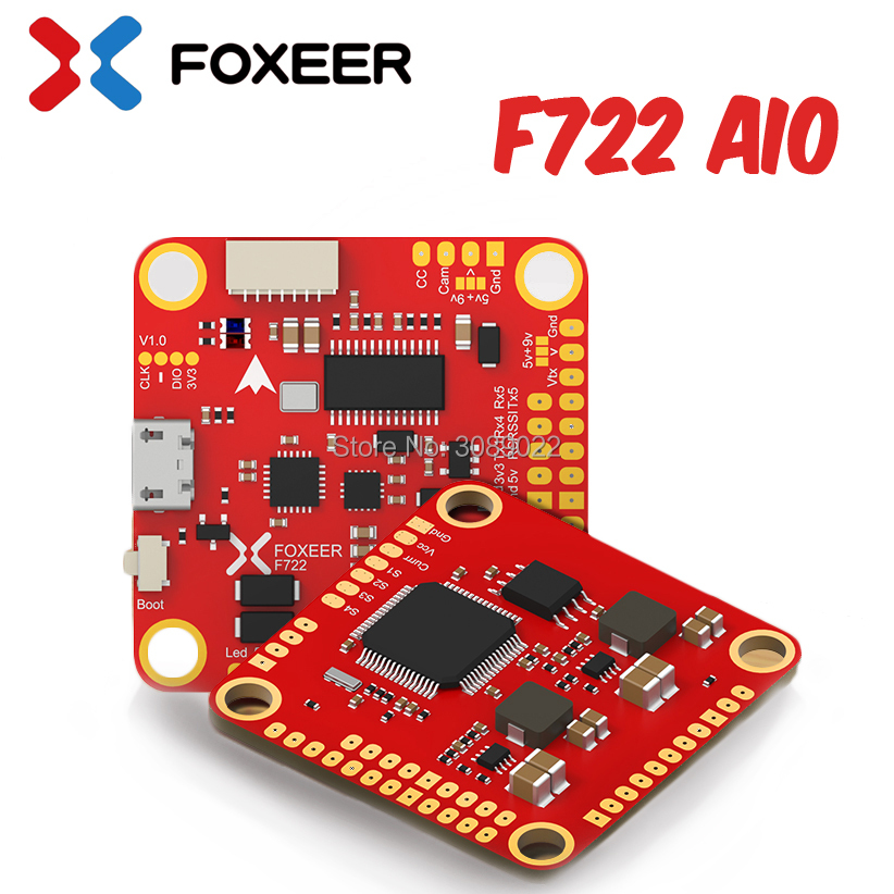 Foxeer F722 AIO STM32F722RGT6 F722DUAL Flight Controller Built in Dual gyroscopes MPU6000 and ICM20602 OSD 3