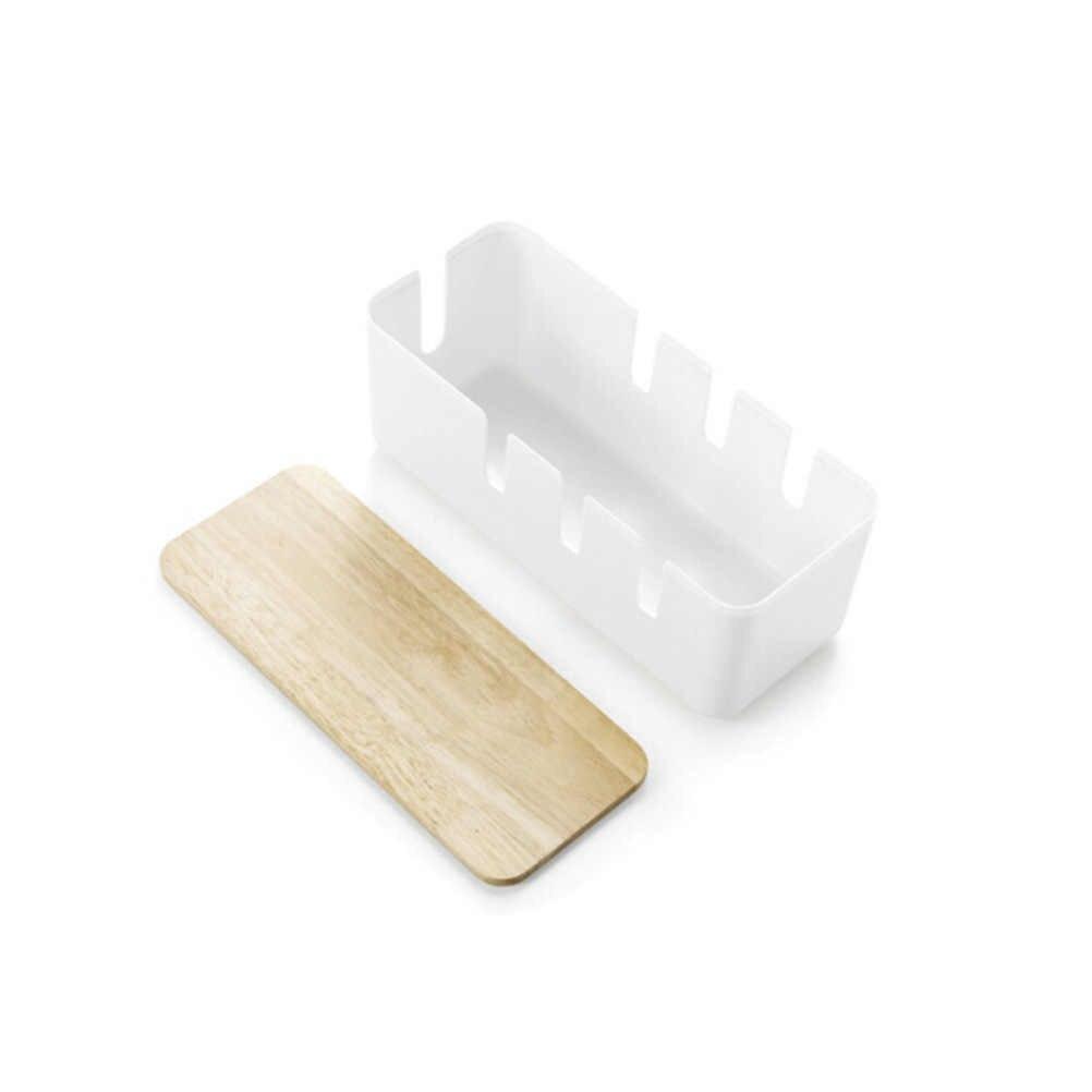 1 سلك الكمبيوتر صندوق تخزين بلاستيكي متعدد الوظائف مكافحة الغبار موضة اللوازم المنزلية الحال بالنسبة لتنظيم كابلات مقبس شاحن