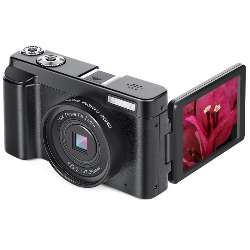 P11 pantalla abatible inalámbrica WIFI Full HD 1080P 24MP 16X Zoom cámara Digital Video Recorder lente Macro visión amplia 1 * reloj LED gran pared Digital de escritorio despertador reloj moderno 3D 12/24 hora pantalla 2019 nuevo termómetro de moda despierta