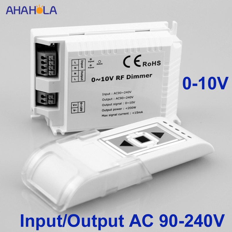 RF Led Dimmer 220v Remote Control Output 0-10v Light Dimmer 220v Dimmer Led 220v Lamps Input AC 110V 220 V