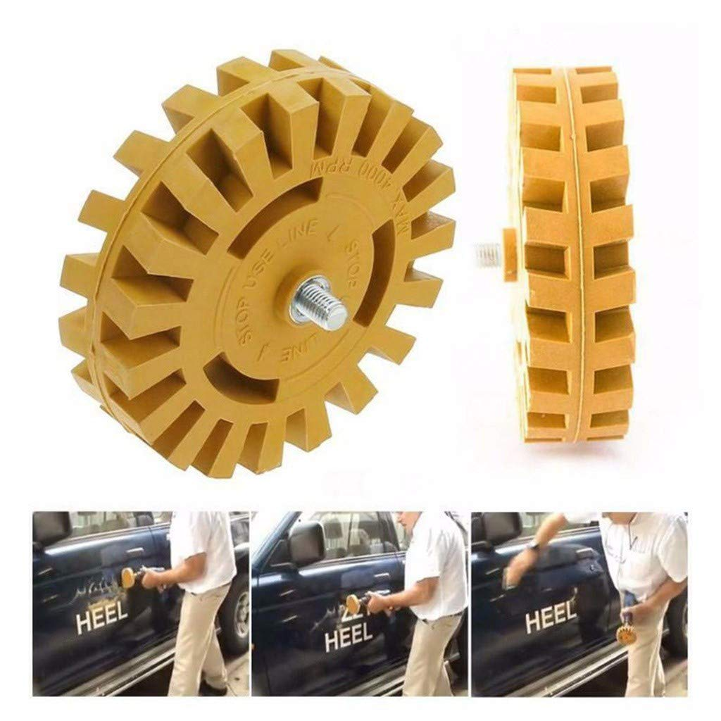 Pinstripe Decal Eraser Wheel Pad Sticker Removal Tool with Arbor Grooved