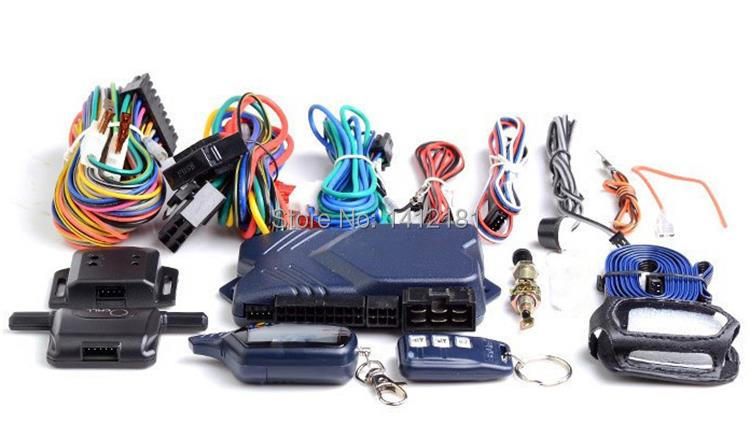 Two way Car Burglar Alarm Keychain RC Anti theft System + LCD Control key Fob engine start For Russian Version Twage StarLine B9