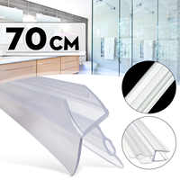 4-6mm Shower Screen Water Seal Strip Bar Curved Flat Glass Bath Door to 17mm Gaps