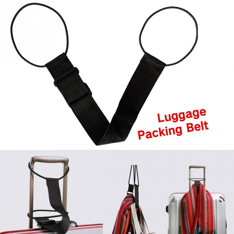 Strong Black Travel Nylon Portable Luggage Strap Suitcase Packing Fixed Belt Adjustable Security Accessories Supplies Products