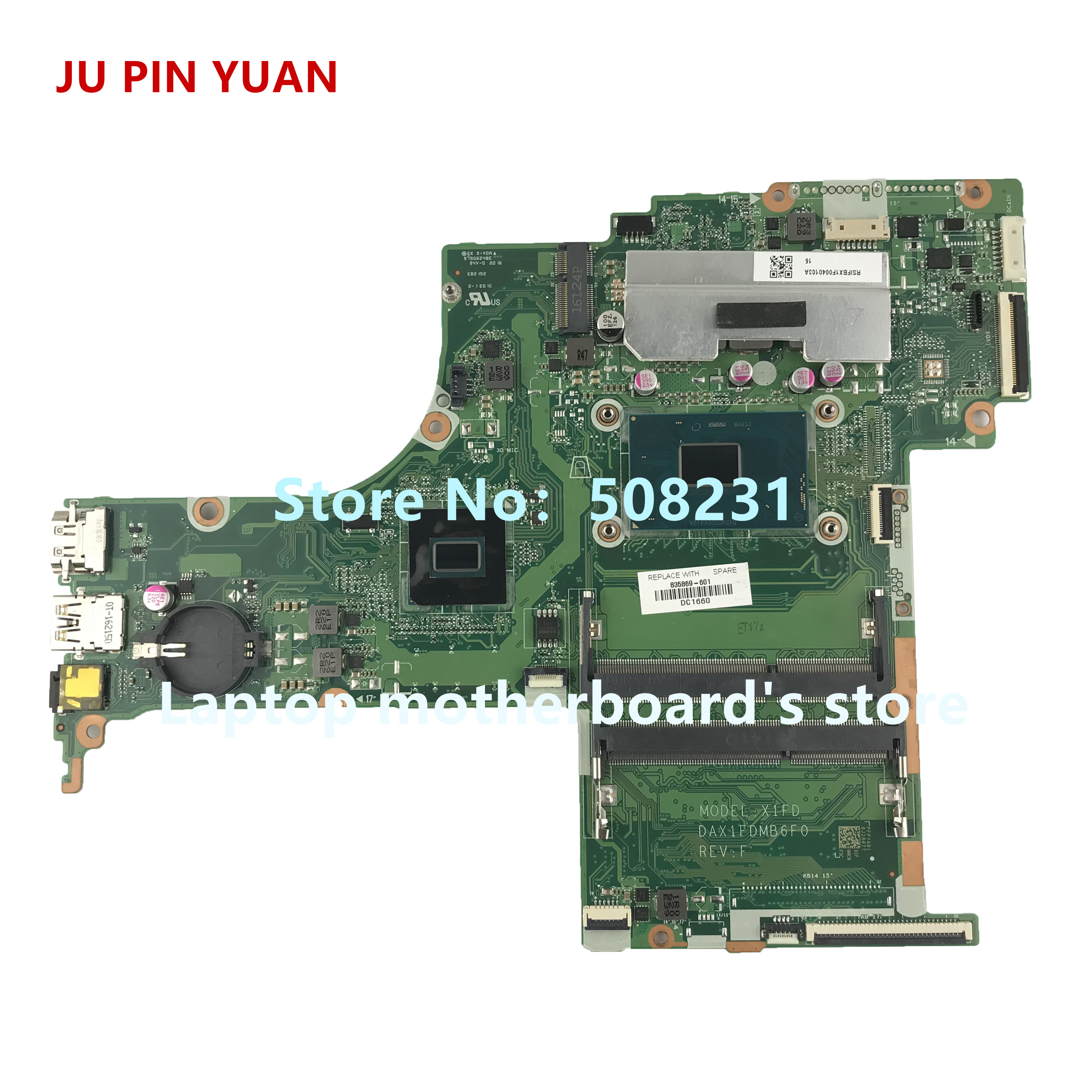 JU PIN YUAN 835869-001 DAX1FDMB6F0 835869-601 mainboard for HP ENVY Notebook 17-G 17-S 17T-S Laptop motherboard with i7-6700HQJU PIN YUAN 835869-001 DAX1FDMB6F0 835869-601 mainboard for HP ENVY Notebook 17-G 17-S 17T-S Laptop motherboard with i7-6700HQ