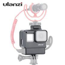 Чехол Ulanzi V2 Vlog для экшн-камеры, корпус, каркас с креплением для холодного башмака для GoPro Hero для микрофона+ микрофонный адаптер 3,5 мм