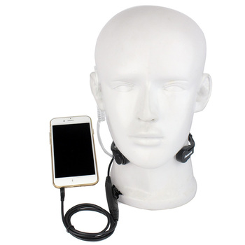 Retevis R-151 1Pin 3.5mm PTT Throat Mic Flexible Earpiece Covert Air Tube Headset Headphone For Mobile Phone/Speakers/Computers - discount item  34% OFF Walkie Talkie