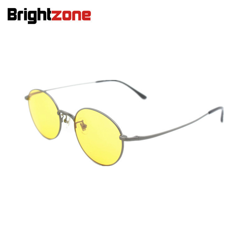 Apparel Accessories Honesty Mongoten Ultralight Unisex Retro Fashion Full Rim Pure Titanium Optical Eyewear Frame Silver Gold Clear Lens Myopia Eyeglasses