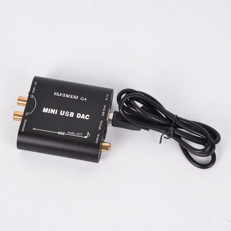 Le décodeur audio entrée de gamme PC USB DAC CM108AH 24 bits/192 kHz convertit le signal numérique en un signal audio analogique sans perte Q4