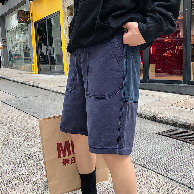 Men's Short Trousers 2019 Summer New Slim Slim Solid Color Short Trousers Loose Casual Personality Young Men's Wear