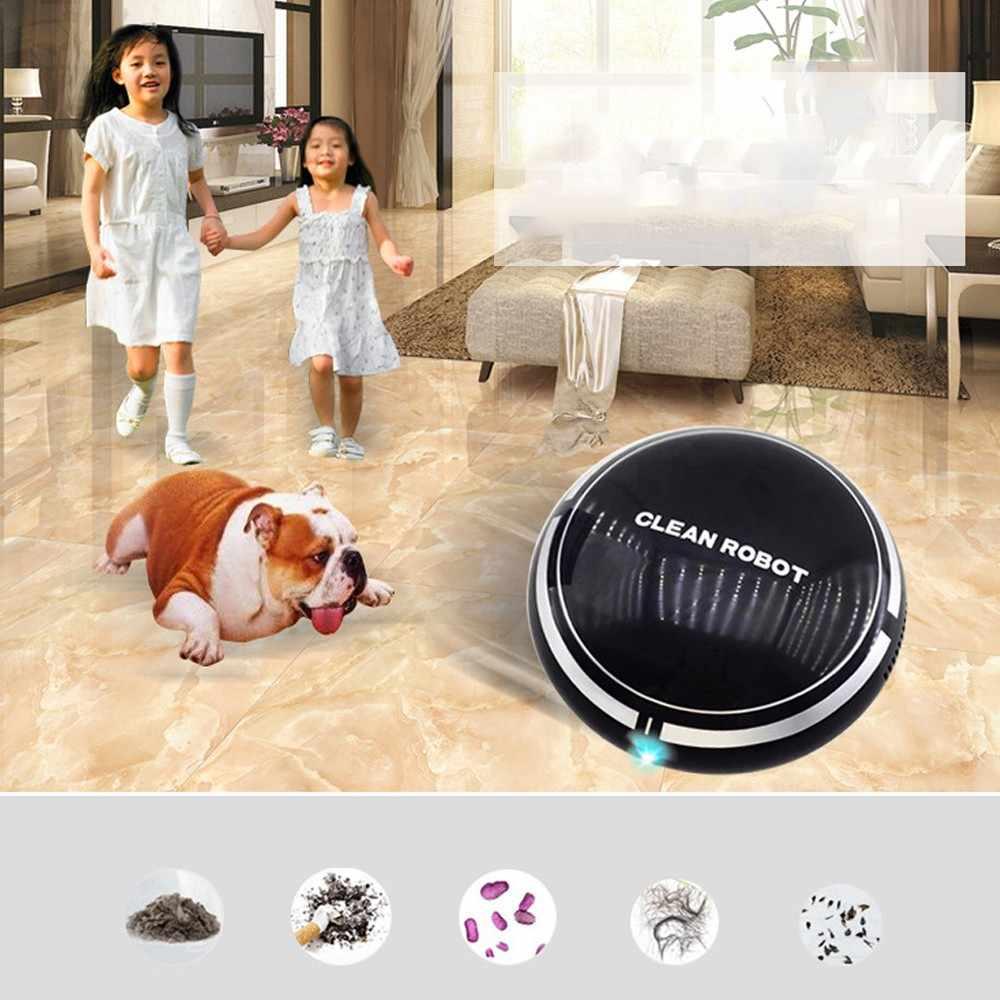 Robot de barrido de piso recargable 2 en 1, recogedor de polvo, Robot inteligente de inducción automática, aspirador de barrido de suelo