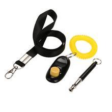 Ультразвуковой тренировочный свисток для собаки+ кликер для дрессировки питомца+ Бесплатный набор ремней