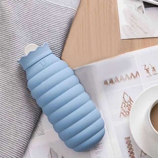 Xiaomi Portable Silicone Microwave Heating Hot Water Bag Winter Hand Warmer With Textile Cover Warming Products 620ml