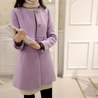 Women Autumn Winter Long Coat Button Female Robe Outerwear Manteau Femme Yellow Purple Red Solid Casaco Feminino 5xl 4xl 3xl S