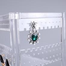Jewelry Display Stand Holder Lady Necklace Stud Earrings Display Stand Hole Showcase Jewelry Display Rack Organizer Accessories