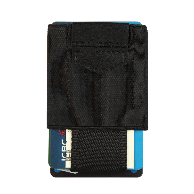 Elastic Small Men Wallets Thin Mini Purse Slim Credit Card Holder Business ID Card Holders