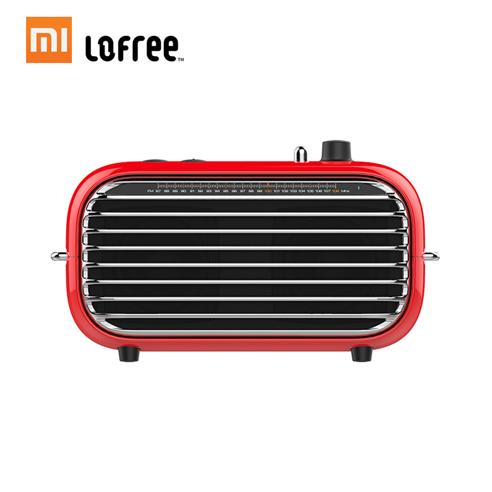 Xiaomi Mijia LOFREE Bluetooth Speaker Fashion Retro Lightweight Portable FM Radio Bluetooth Cable Dual Mode Wireless