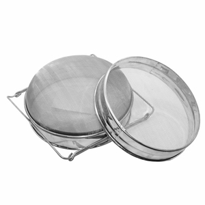Image 5 - Stainless Steel Double layer Honey Sieve Filtration Bee Honey Filter Strainer Machine Tool Extractor Beekeeping Tools
